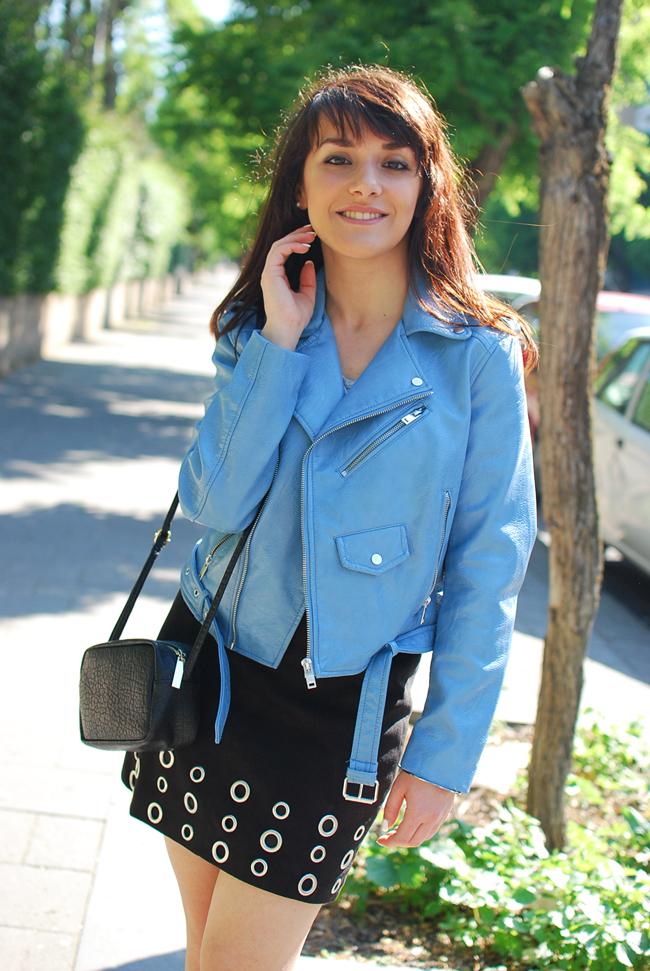 c30f3cf099 Light blue jacket | Chiara Lanero
