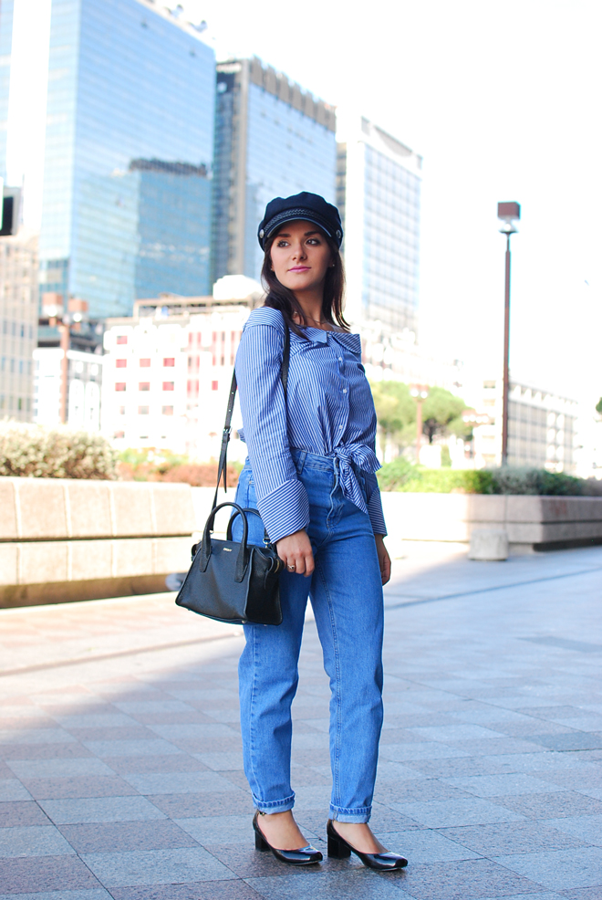 02-chiara-lanero-fashion-blogger-napoli-outfit-off-shoulder-trend-shirt-zara-lieutenant-hat