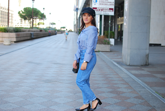 04-chiara-lanero-fashion-blogger-napoli-outfit-off-shoulder-trend-shirt-zara-lieutenant-hat