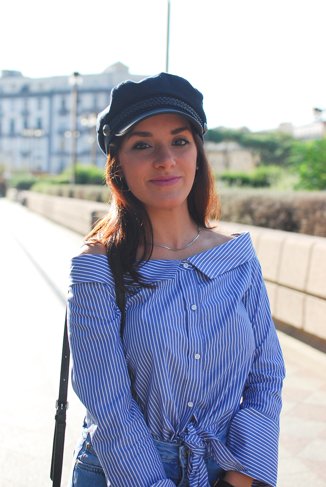 05-chiara-lanero-fashion-blogger-napoli-outfit-off-shoulder-trend-shirt-zara-lieutenant-hat