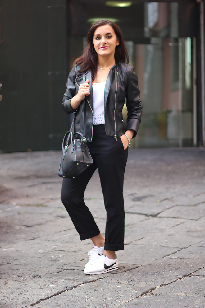 08-chiara-lanero-fashion-blogger-napoli-outfit-leather-jacket-zara-dkny-nike-cortez