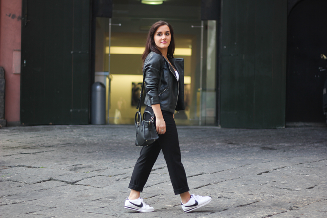 10-chiara-lanero-fashion-blogger-napoli-outfit-leather-jacket-zara-dkny-nike-cortez