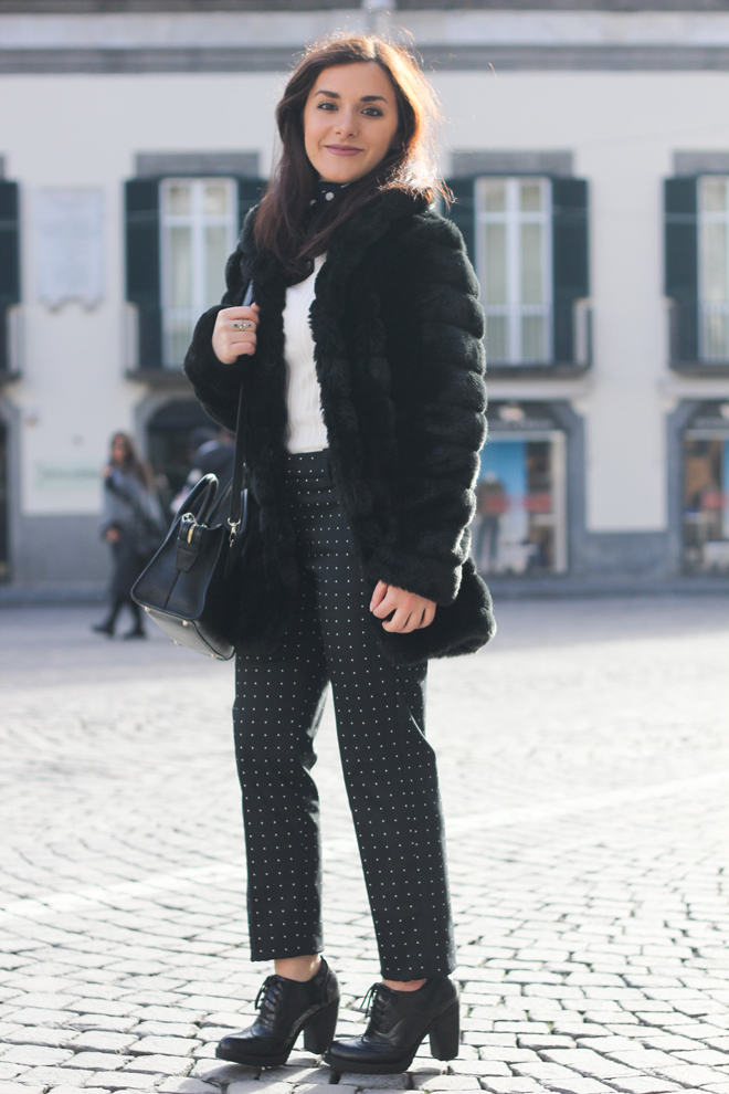 08-chiara-lanero-fashion-blogger-napoli-outfit-faux-fur-zara-trousers-dkny-winter