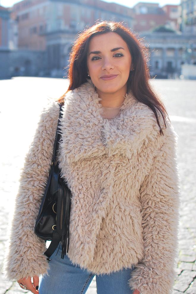 Faux Fur Jacket Zara Beige Cairoamani Com